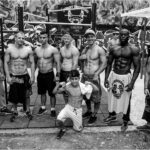 A Group of Street Workout Athletes in a Calisthenics Park